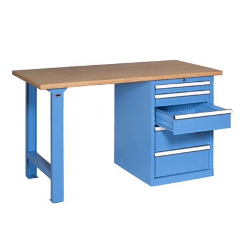 Arredamento industriale banco da lavoro con cassettiera for Arredamento lavoro