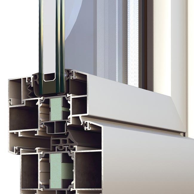 Serramenti porte e finestre a battente alumil s60 - Finestre a taglio termico ...